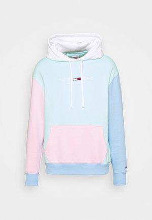 COLOR BLOCK HOODIE - Sweatshirt - light powdery blue