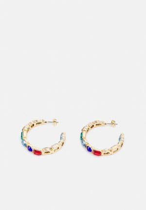 PCFLORA HOOP  - Earrings - gold-coloured/multi