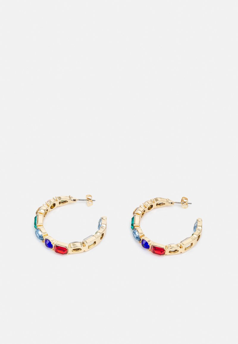 Pieces - PCFLORA HOOP  - Earrings - gold-coloured/multi