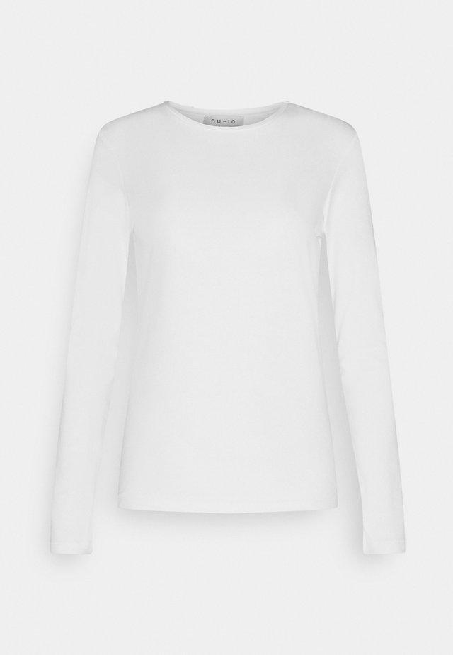 LONG SLEEVE CREW NECK - Topper langermet - white