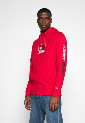 ESSENTIAL GRAPHIC HOODIE - Hoodie - deep crimson