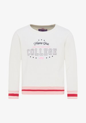 Sweatshirt - wollweiss rosa