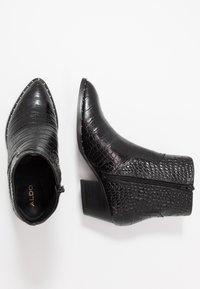 ALDO - AGROACIA - Cowboy/biker ankle boot - black - 3