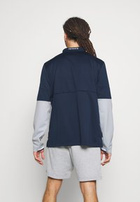 Nike Performance - NFL NEW ENGLAND PATRIOTS TEAM HALF ZIP THERMA - Club wear - college navy/wolf grey - 2