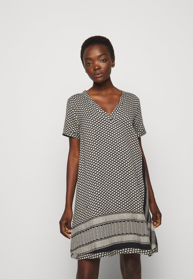 CECILIE copenhagen - DRESS - Day dress - black/stone