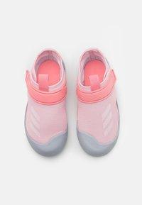adidas Performance - ALTAVENTURE UNISEX - Pool slides - clear pink/footwear white/super pop - 3