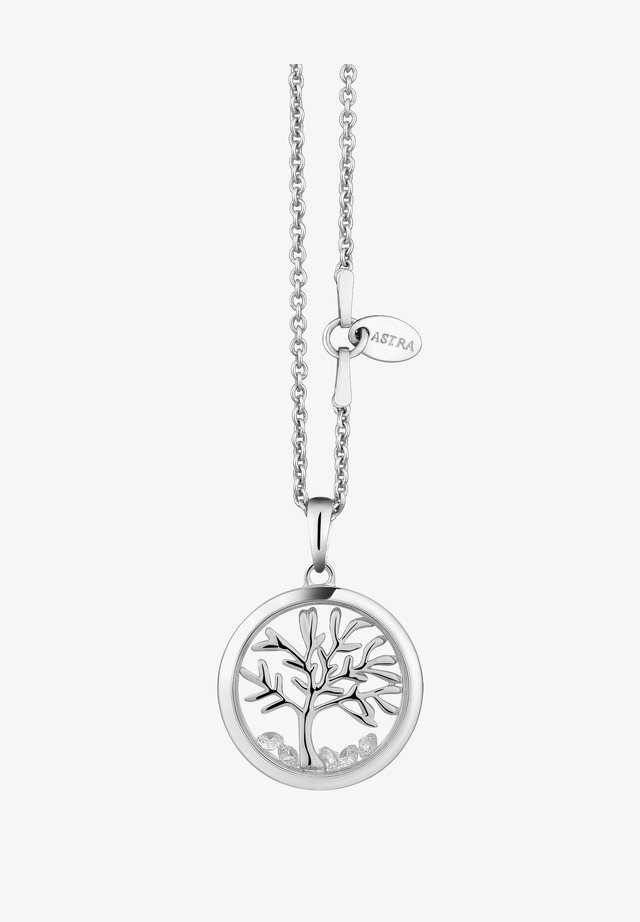 MIT ANHÄNGER TREE OF LIFE - Ketting - white gold