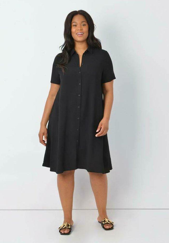 Live Unlimited London - Shirt dress - black