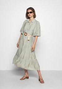 Gestuz - KIRITAGZ DRESS - Sukienka koszulowa - pale green - 1