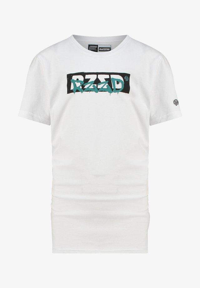 Print T-shirt - real white