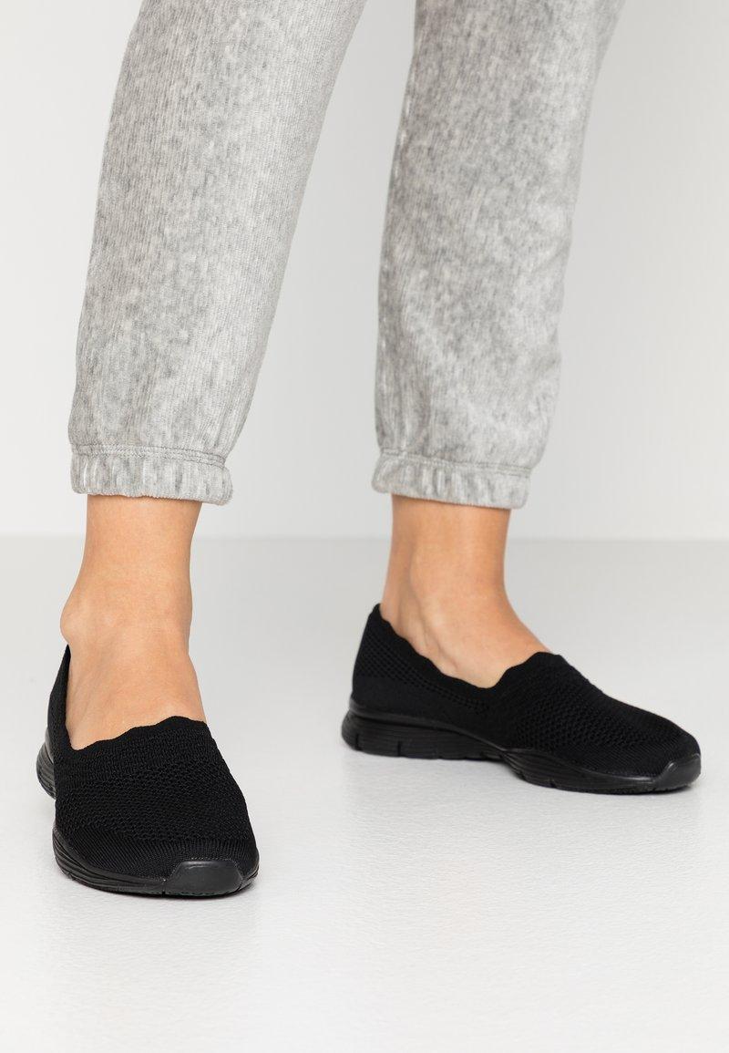 Skechers - SEAGER - Slip-ons - black