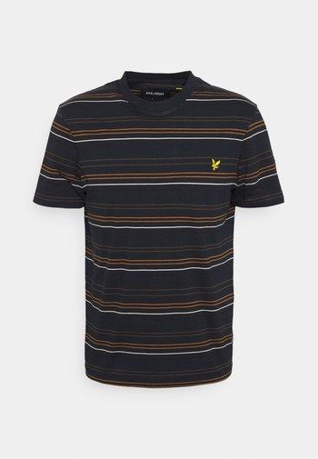MULTI STRIPE - Print T-shirt - dark navy