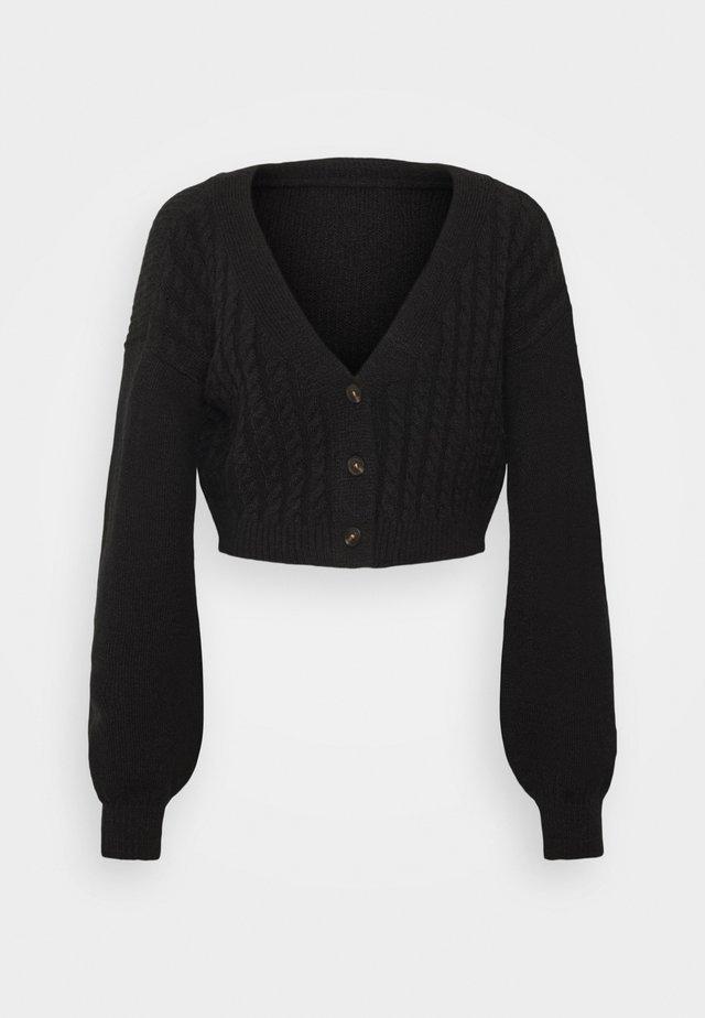 WIDE NECK  - Vest - black