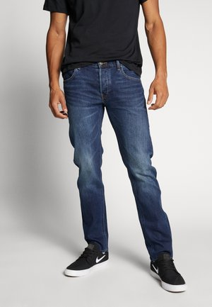 DAREN BUTTON FLY - Jeans straight leg - intense blue