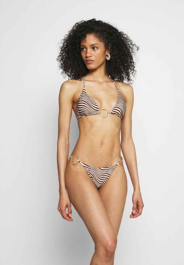 CLAUDIA - Bikinitoppe - mahogany/multi