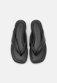 Dune London - LONGISLAND - Sandály s odděleným palcem - black - 5