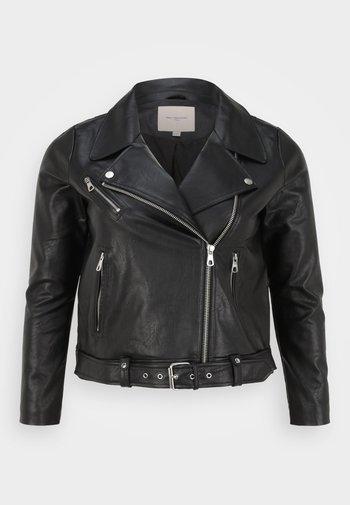 CARVERA - Faux leather jacket - black