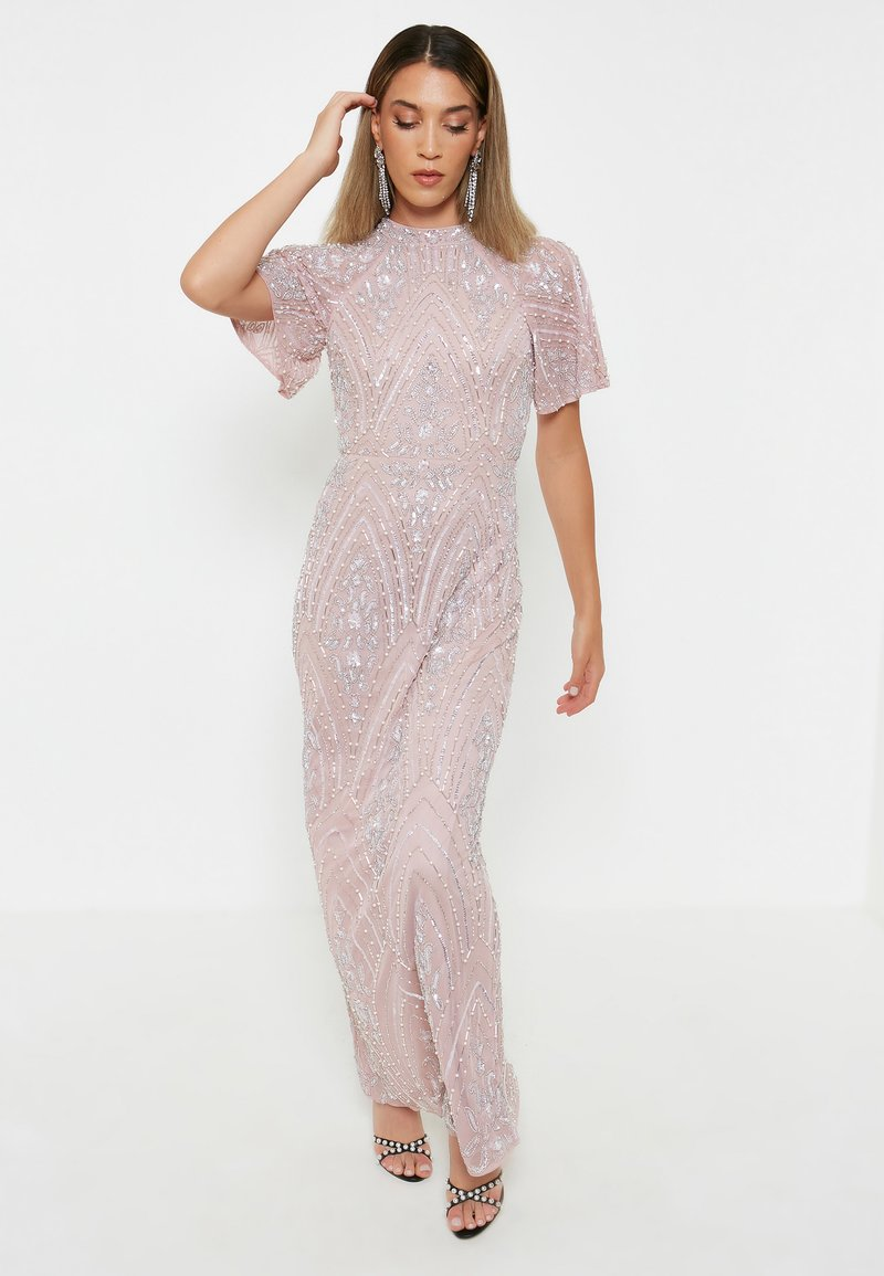 BEAUUT - GRACY EMBELLISHED SEQUINS  - Cocktailklänning - frosted pink