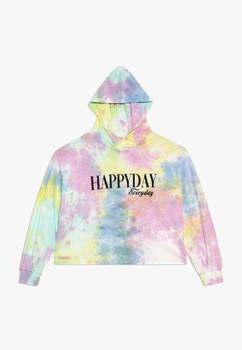 GIRLS HAPPYDAY BOXY HOODIE - Mikina skapucí - pastel batik