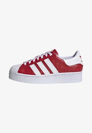 SUPERSTAR BOLD - Tenisky - scarlet/core black/footwear white