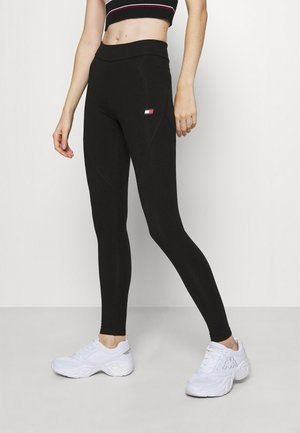 LEGGING LOGO - Leggings - black