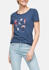 s.Oliver - Print T-shirt - blue placed print - 3