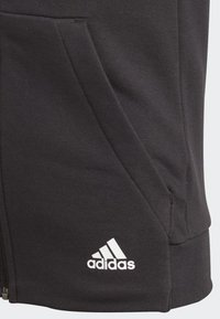 adidas Performance - MUST HAVES 3-STRIPES HOODIE - Sudadera con cremallera - black - 4