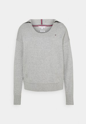 HOODIE OPEN NECK - Sweter - light grey heather