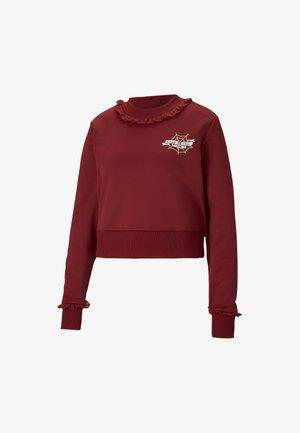Sweatshirt - red dahlia