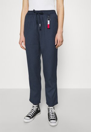 PINSTRIPE PANT - Trousers - twilight navy/white