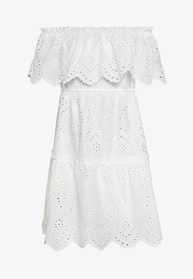 VISABELLA OFFSHOULDER DRESS - Day dress - snow white