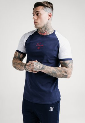 RAGLAN TECH TEE - T-shirt imprimé - navy