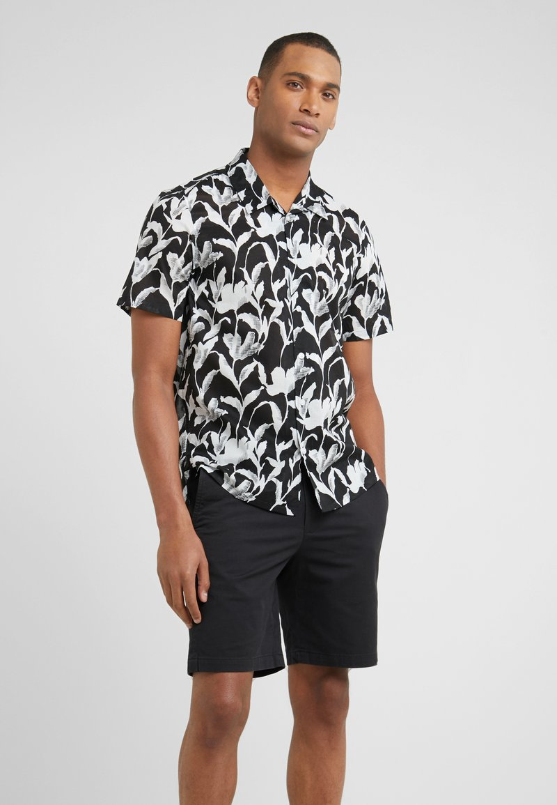 Club Monaco - CLIMBING FLOWER SLIM FIT - Shirt - black