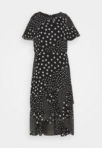 Dorothy Perkins Curve - CURVE PUFF SLEEVE DRESS - Maxi dress - black/white - 4