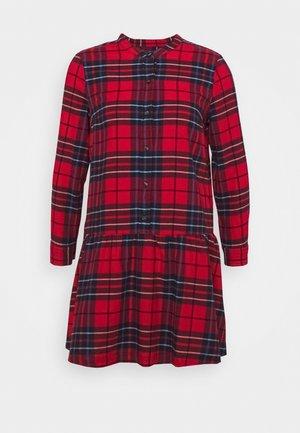 Shirt dress - red