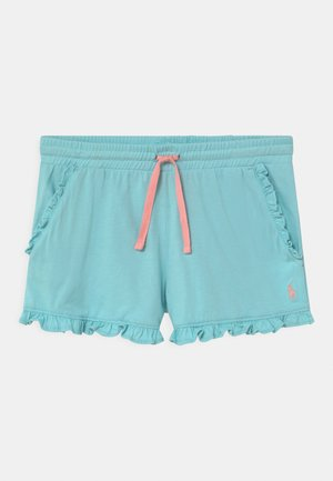 RUFFLE BOTTOMS - Shorts - turquoise cloud