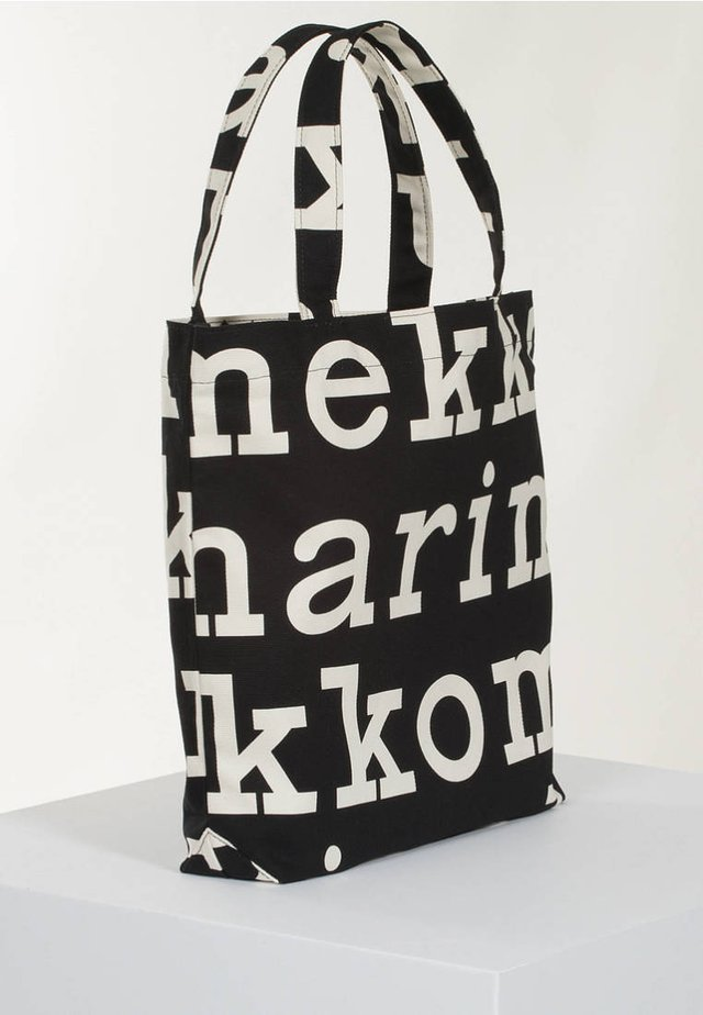 Shopping bag - black/off white