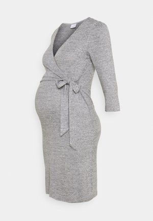 MLILA TESS DRESS - Strikkjoler - medium grey melange