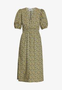 JUST FEMALE - DOVE DRESS - Kjole - black/yellow - 4