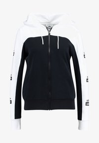 adidas Originals - HOODED - Huvtröja med dragkedja - white/black - 4