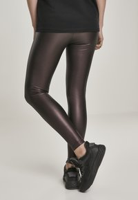 Urban Classics - Leggings - Trousers - redwine - 2