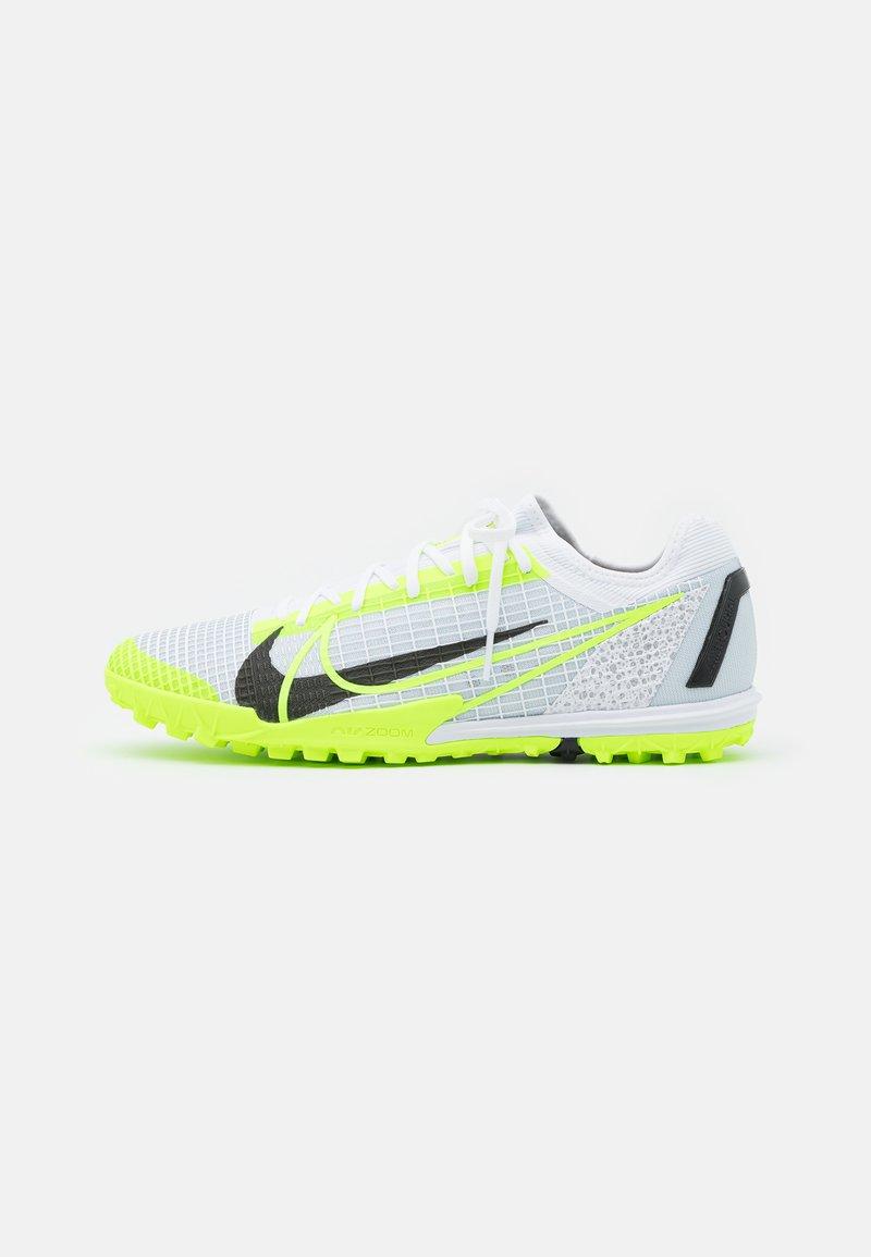 Nike Performance - MERCURIAL ZOOM VAPOR 14 PRO TF - Astro turf trainers - white/black/metallic silver/volt