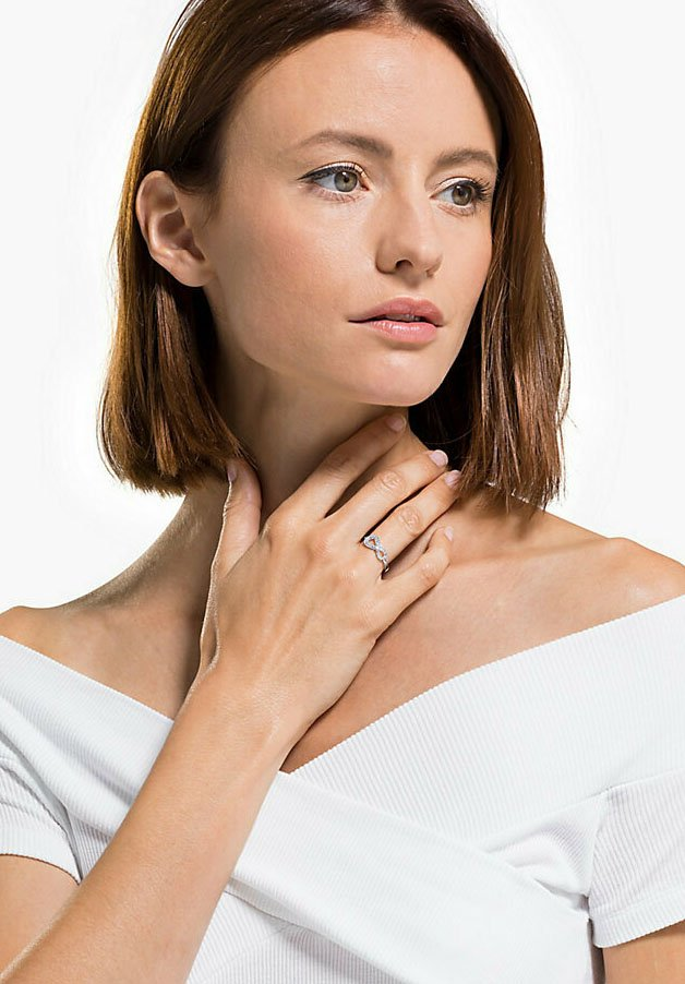 Swarovski - INFINITY - Ring - silber