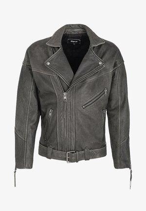 TIGHA  CHARI - Leather jacket - vintage black