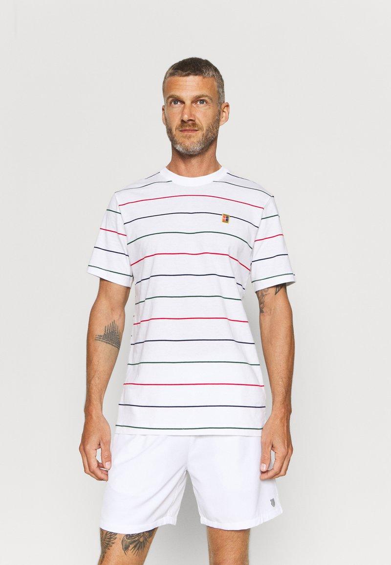 Nike Performance - STRIPES TEE - Print T-shirt - white