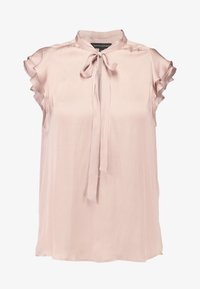 Banana Republic - FLUTTER SLEEVE TIE NECK SOLIDS - Basic T-shirt - blush - 4