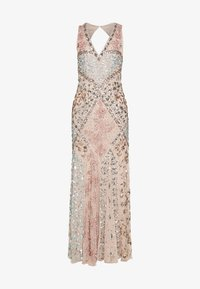 Maya Deluxe - DEEP V NECK EMBELLISHED MAXI DRESS WITH CUT OUT BACK - Ballkjole - nude/multi - 6