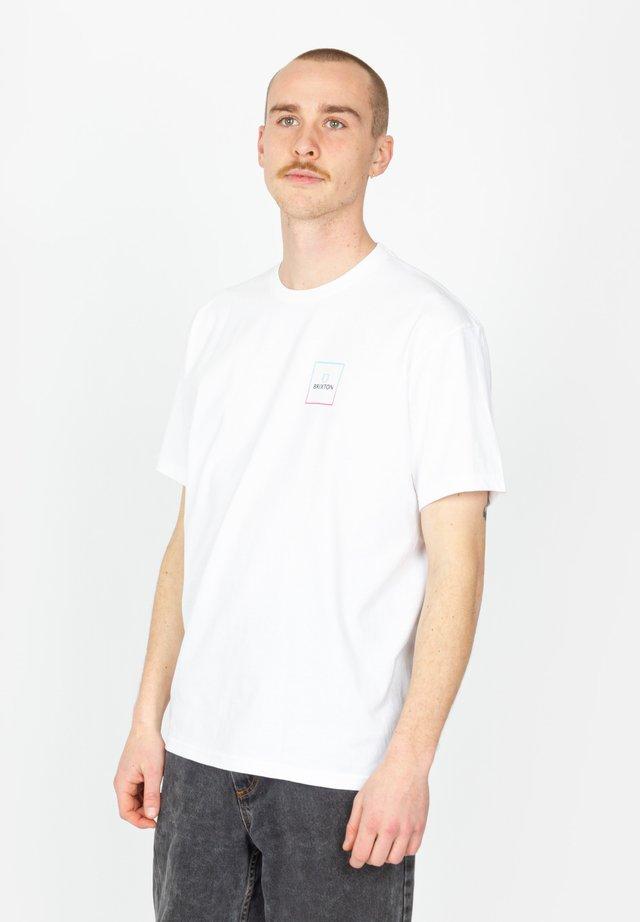 ALPHA SQUARE - T-shirt imprimé - white / light blue / pink