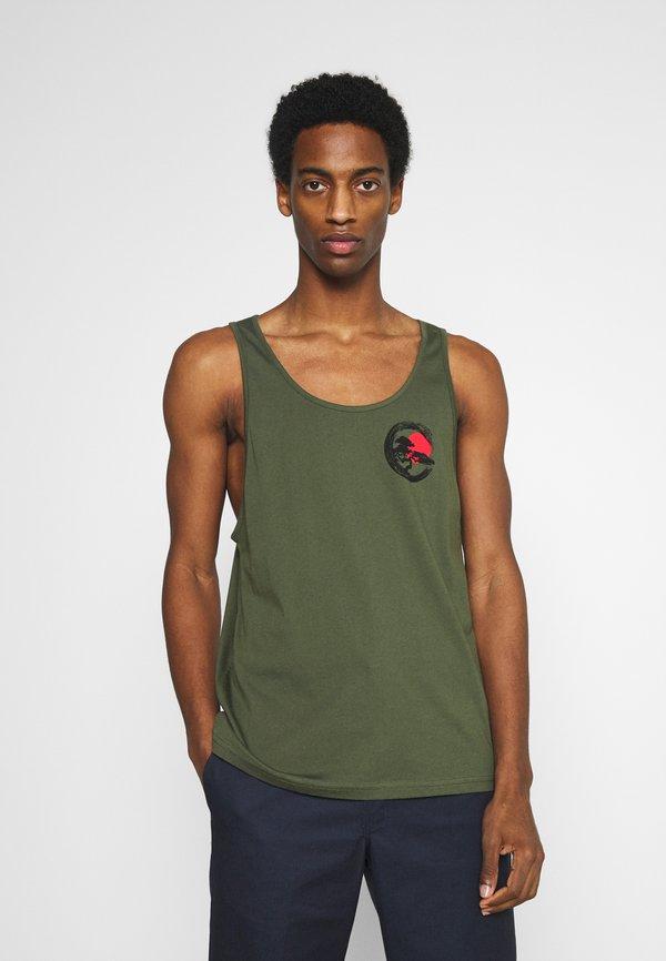 Pier One Top - olive/oliwkowy Odzież Męska ZWWL