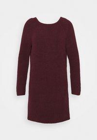 TWIST BACK DRESS - Pletené šaty - royal berry